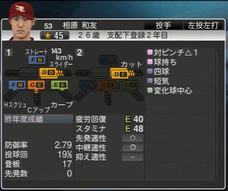 相原 和友 プロ野球スピリッツ2015ver1.06