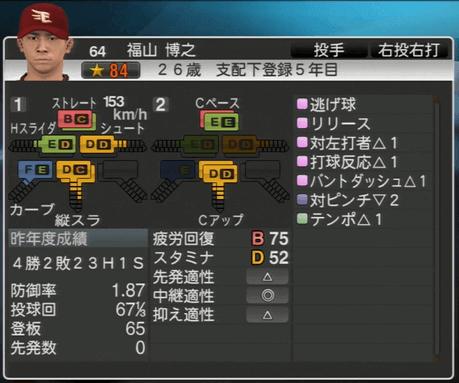 福山 博之 プロ野球スピリッツ2015