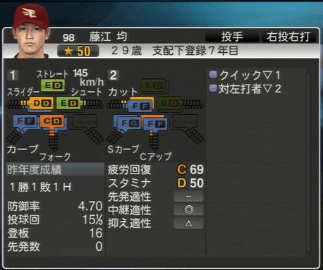藤江 均 プロ野球スピリッツ2015