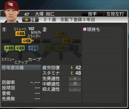 大塚 尚仁 プロ野球スピリッツ2015 ver1.06