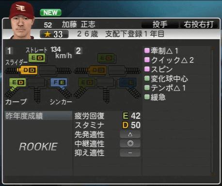 加藤 正志 プロ野球スピリッツ2015 ver1.06