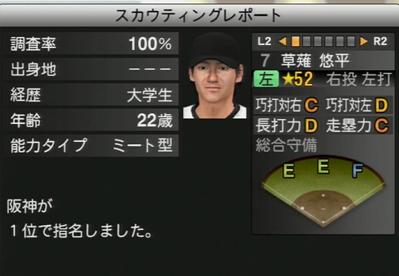 プロ野球スピリッツ2015 草薙悠平