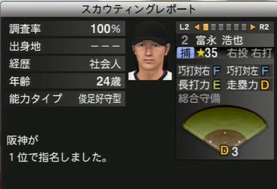 プロ野球スピリッツ2015 富永浩也