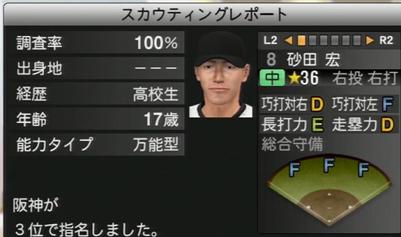 プロ野球スピリッツ2015 砂田宏