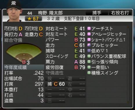 プロ野球スピリッツ2015 2023年梅野隆太郎