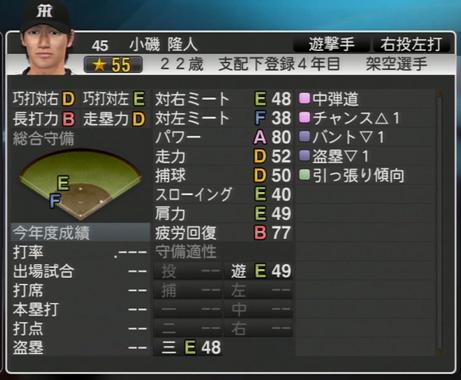 プロ野球スピリッツ2015 小磯隆人