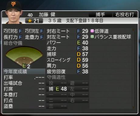 プロ野球スピリッツ2015 加藤健