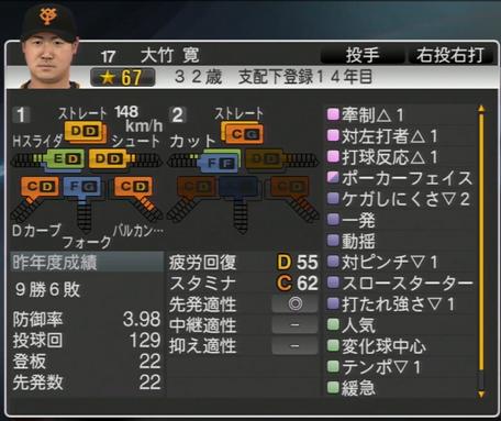 プロ野球スピリッツ2015 2015年 大竹寛