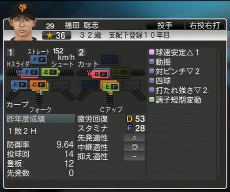 プロ野球スピリッツ2015 2015年 福田聡志