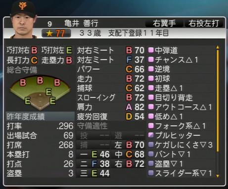 プロ野球スピリッツ2015 2015年 亀井善行