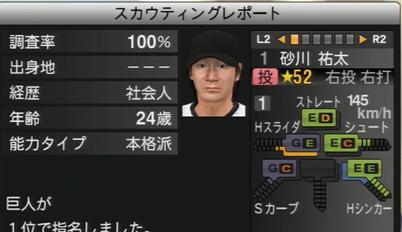 プロ野球スピリッツ2015 砂川祐太