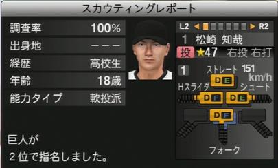 プロ野球スピリッツ2015 松崎知哉