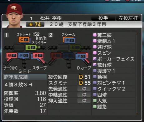 プロ野球スピリッツ2015 松井裕樹