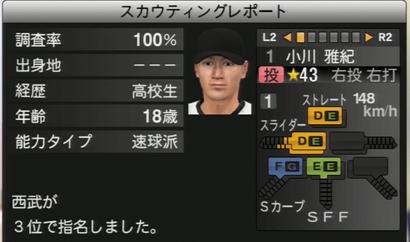 プロ野球スピリッツ2015 小川雅紀
