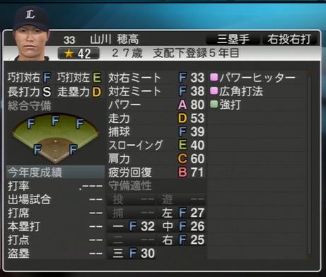 プロ野球スピリッツ2015 山川穂高
