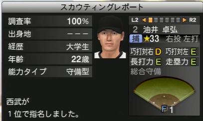プロ野球スピリッツ2015 油井卓弘