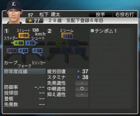 プロ野球スピリッツ2015 2015年 松下健太