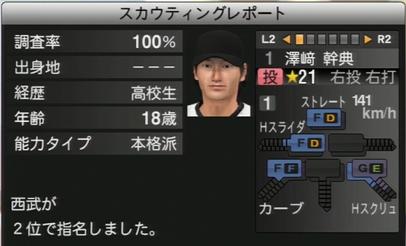 プロ野球スピリッツ2015 澤崎幹典