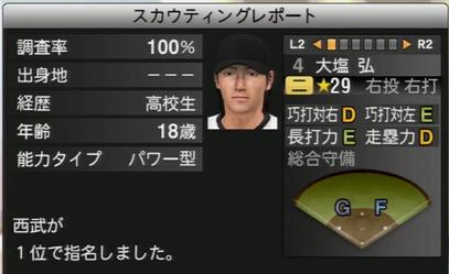 プロ野球スピリッツ2015 大塩弘