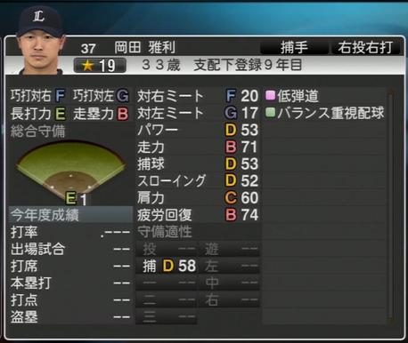 プロ野球スピリッツ2015 2022年 岡田雅利
