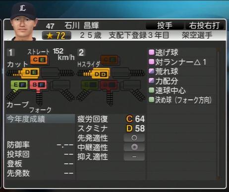 プロ野球スピリッツ2015 石川昌輝