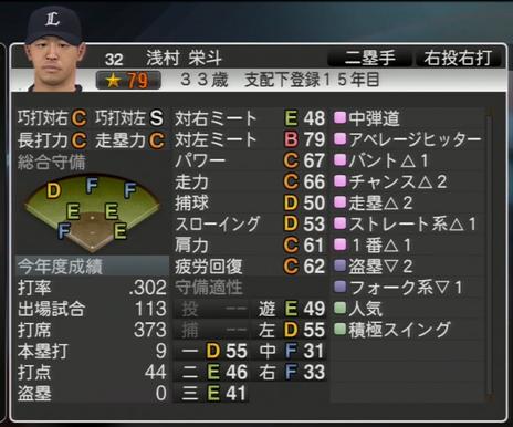 プロ野球スピリッツ2015 2023年 浅村栄斗