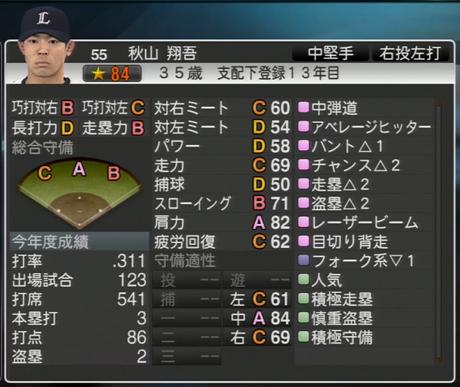 プロ野球スピリッツ2015  2023年 秋山翔吾