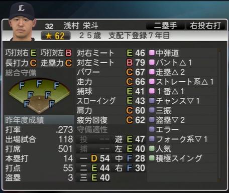 プロ野球スピリッツ2015 2015年 浅村栄斗