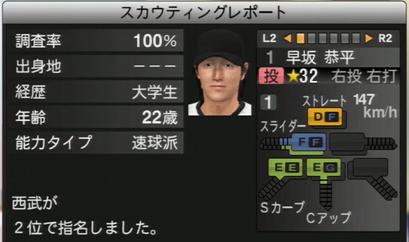 プロ野球スピリッツ2015 早坂恭平