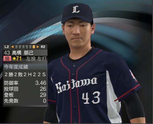 プロ野球スピリッツ2015 高橋朋己 2024年