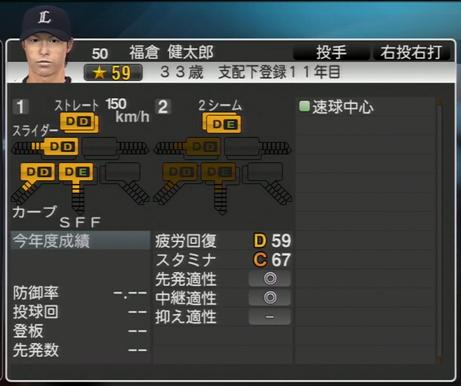 プロ野球スピリッツ2015 2024年 福倉健太郎