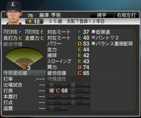 プロ野球スピリッツ2015 2024年 藤澤亨明