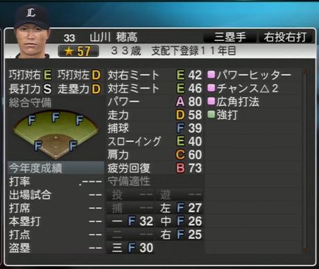 プロ野球スピリッツ2015 2024年 山川穂高