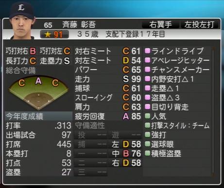 プロ野球スピリッツ2015 2024年 斉藤彰吾