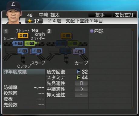 プロ野球スピリッツ2015 2015年 中崎雄太