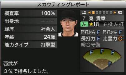 プロ野球スピリッツ2015 筧貴章