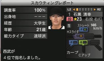 プロ野球スピリッツ2015 石黒清幸