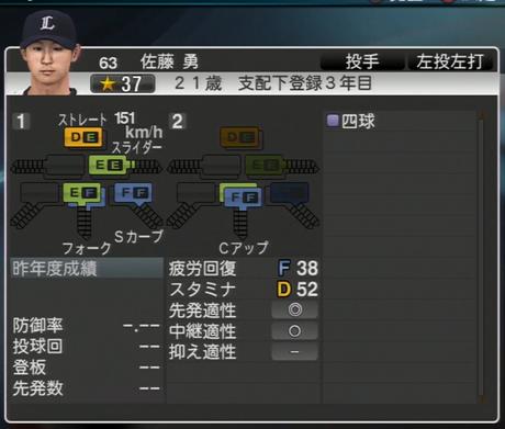 プロ野球スピリッツ2015 2015年 佐藤勇