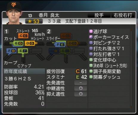 プロ野球スピリッツ2015 香月良太 ver1.06