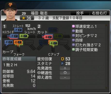 プロ野球スピリッツ2015 福田聡志