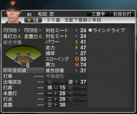 和田恋 プロ野球スピリッツ2015