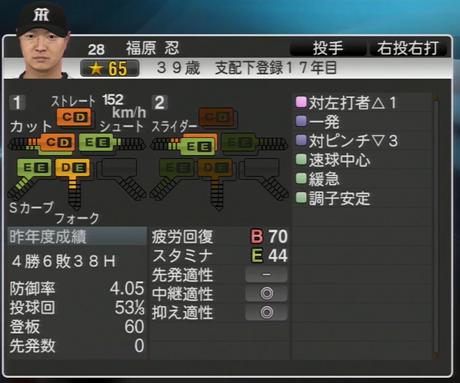 福原忍 プロ野球スピリッツ2015