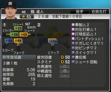 鶴直人 プロ野球スピリッツ2015 ver1.06
