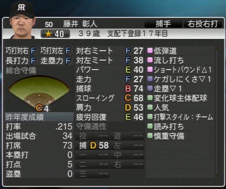 藤井彰人 プロ野球スピリッツ2015