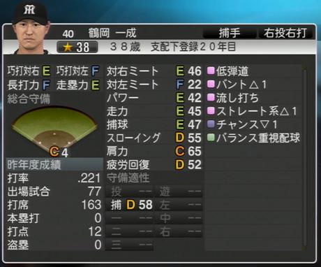 鶴岡一成 プロ野球スピリッツ2015