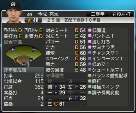 今成亮太 プロ野球スピリッツ2015 ver1.06