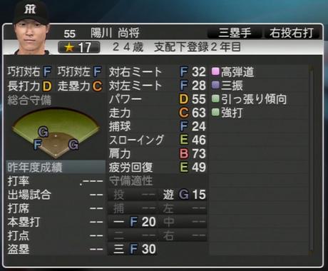陽川尚将 プロ野球スピリッツ2015 ver1.06