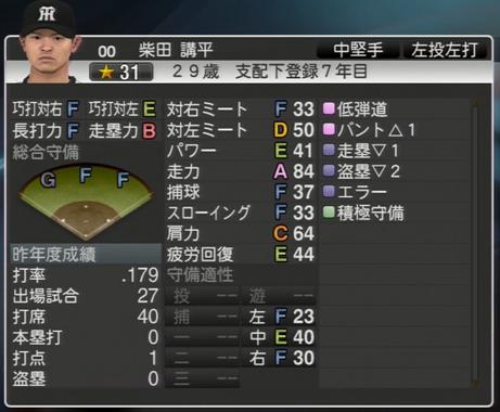 柴田講平 プロ野球スピリッツ2015