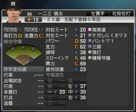 一二三慎太 プロ野球スピリッツ2015 ver1.06