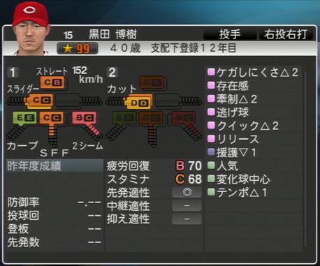 黒田博樹 プロ野球スピリッツ2015
